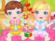 Newborn twins baby game